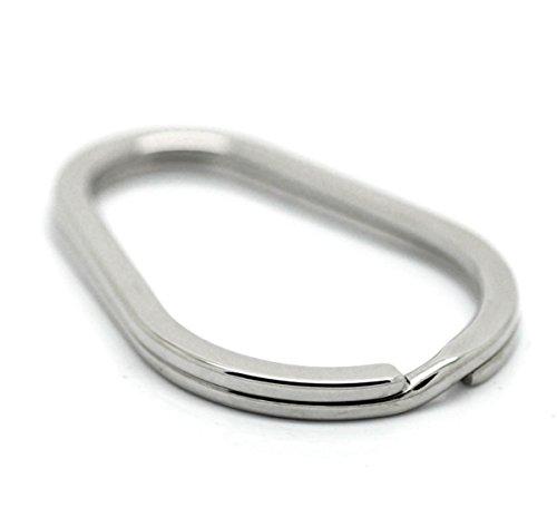 - VALYRIA Stainless Steel Oval Split Rings Keyrings Keychains Keys Holder 4cm x 2.8cm(1 5/8