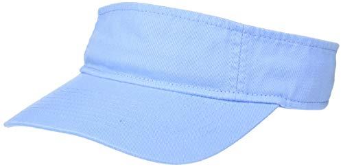 (UltraClubs Men's ULTC-8103-Classic Cut Chino Cotton Twill Visor, Light Blue, One Size )