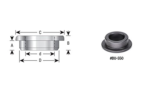 Amana Tool BU-700 Shaper Cutter T-Bushings (with Flange) 1-1/4 to 1 by Amana Tool