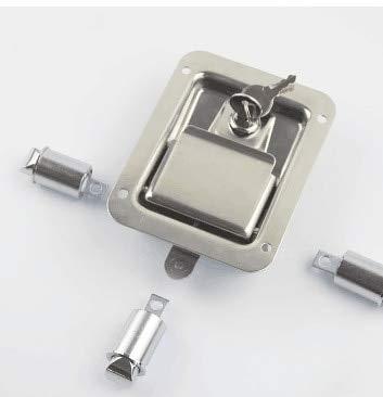 304 Stainless Steel Flat Explosion-proof Cabinet Lock Three-point Interlocking Cabinet Panel Lock Pull Type Mechanical Lock