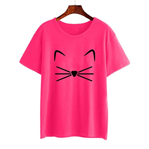 Blouses for Womens, WOCACHI Women Girls Plus Size Print Tees Shirt Short Sleeve Cotton T Shirt Blouse Tops 2019 Spring New Arrival 30% Off Deals Holidays Vacation Summer Valentine Days