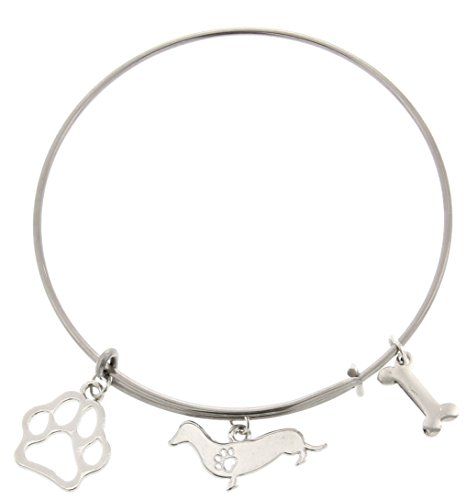 Best-Dog-Mom-Ever-Dog-Breed-Dog-Paw-Gift-Adjustable-Bangle-Charm-Silver-Tone-Bracelet-Jewelry-Box