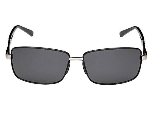 Heartisan Men's Retro Full Frame Rectangular Polarized Lens Sunglasses - For Heads Small Ray Bans