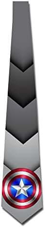 MDSHOP Men's Captain Shield Neck Tie
