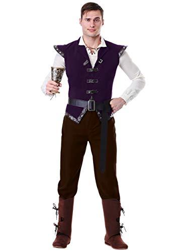 Men's Plus Size Renaissance Tavern Patron Costume 3X Purple ()