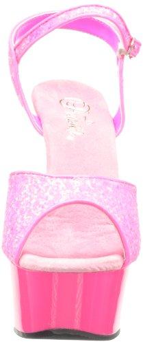 Pink Sandalias Pleaser H con Delight 609uvg H Neon Gltr Abierta Punta M Rosa para Nhpnk Mujer Pink P4qSB4w