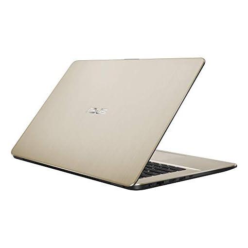 "ASUS VivoBook 15 R505ZA-BR675 - Portátil de 15.6"" HD (AMD Ryzen 5 2500U, 8GB RAM, 256GB SSD, AMD Radeon Vega 8, sin sistema operativo) Metal Oro - Teclado QWERTY Español 4"