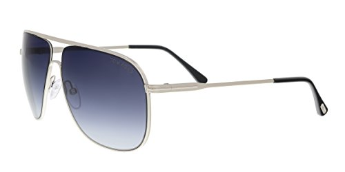 TOM FORD Men's TF451 Dominic 16W Palladium Blue Gradient Aviator Sunglasses - Ford Tom Aviator Sunglasses