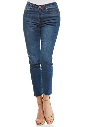 Monkey Ride Jeans Women's Basic Skinny Denim High Rise 5 Pocket Loose Cut Jeans 5, ()