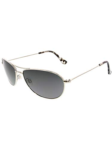 Maui Jim Baby Beach  Aviator Sunglasses, Silver Frame/Neutral Grey Lens, One ()