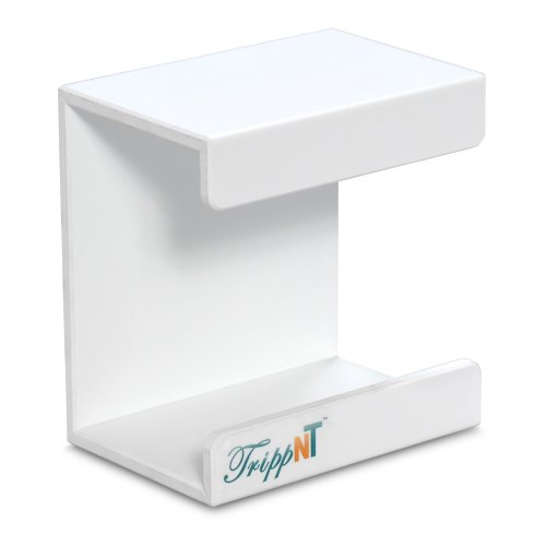 TrippNT 50008 White PVC Small Kimwipe Holder with Double Faced Mounting Tape, 3.5