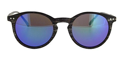 opaco incluida oscuro marrón lentes azul funda espejo en wild sol o unisex reflectante de montura chico en efecto wood madera Gafa chica y Calgary color con Con de para fO7xqPfnZA