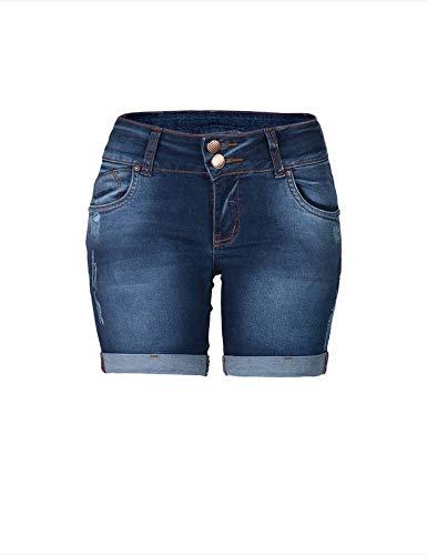 Bermuda Jeans Meia Coxa Feminina