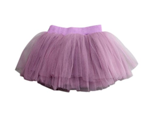 Cotton Soft Remeehi Multicolor Skirt Inner Layers Purple Fluffy Mini Girls Dress 4 Gauze vT6CW