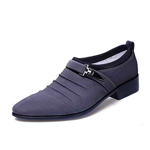 Dress Mocassini Mens Classico Oxford Scarpe Business Scarpe Ufficio Uomo Grigio per 8q14xwqdr