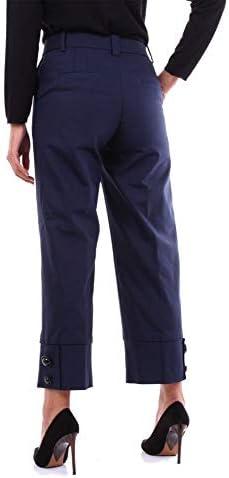 PT01 Luxury Fashion Femme RG21VSMBZS0STDBLUE Bleu Coton Pantalon | Saison Outlet