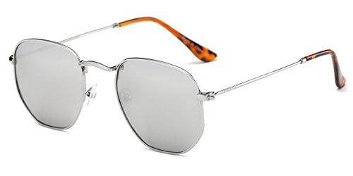 Cramilo Modern Designer Geometric Metal Frames Hexagonal Unisex - Geometric Sunglasses