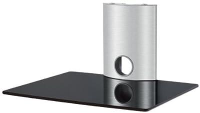 Duronic DS101BS Glass DVD Player shelf/Amplifier/Speaker Shelve for wall mounted LCD/Plasma/LED TV