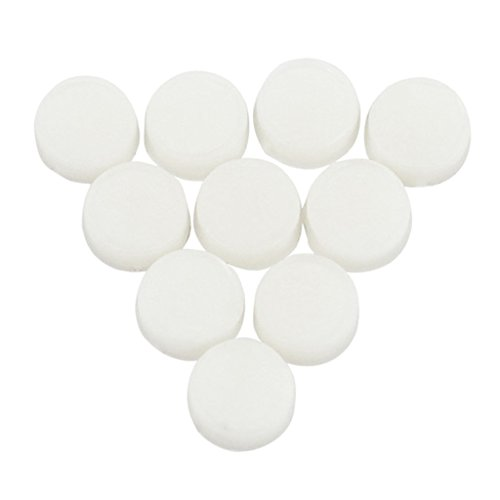 Dovewill 10 Pieces Rubber Open Hole Plugs Flute Key Plugs for Flute Musical Instrument Parts White