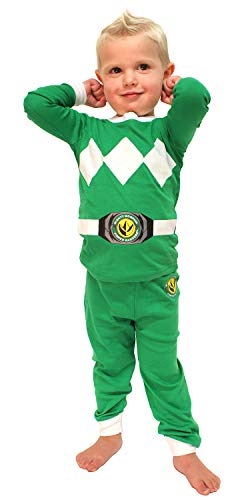 1b2d87fbc9 INTIMO Toddler Mighty Morphin Power Rangers Costume Pajama Set (Green