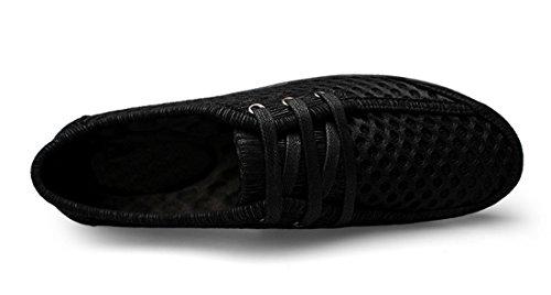Tda Heren Casual Mode Zomer Ademend Mesh Rijden Wandelen Sneakers Schoenen Zwart