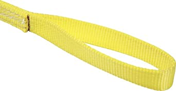 Mazzella EE4 Polyester Web Sling, Eye-and-Eye, Yellow, 4 Ply, Flat Eyes, Vertical Load Capacity