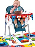 Amscan 013051688196 1st Birthday High Chair Decorating Kit Party Supplies Elmo Sesame Street Fun to be One!, Multi-Colored Size