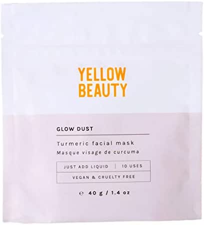 Yellow Beauty Face Mask (10 Use Pouch) - 100% Natural, Vegan and Cruelty Free with Turmeric and Kaolin Clay, Great for Polishing Skin, Detoxing Pores and Leaves You Glowing, 1.4 oz