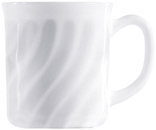 Esmeyer Trianon 441-039 Cup with Handles 0.29 Litres Arcopal Hard Glass Set of 6 White by Esmeyer
