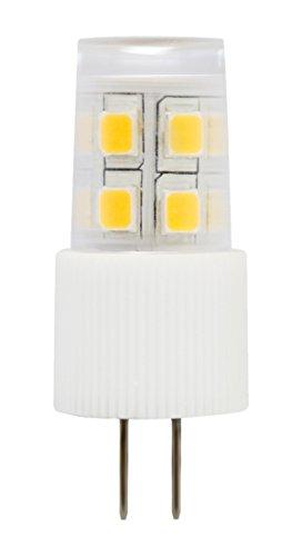 3-PACK LED Corn bulb G4 Bi-pin base 12V AC/DC 2W equivalent to 20W halogen warm white(2700K) light bulb with 13 SMD LEDs for pendant light, appliances, automotives and marine boats -