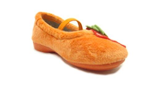 Grünland Junior , Mädchen Hausschuhe Orange orange -