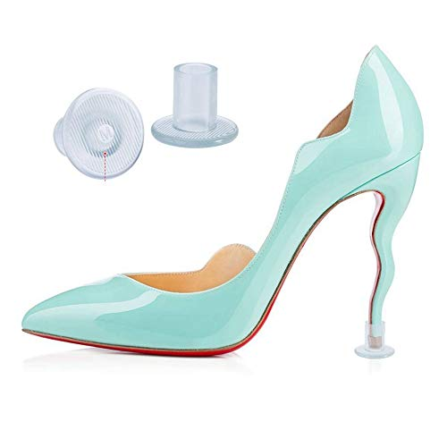 Aohaolee Transparent 6 pairs high heel protectors heel stoppers with 2 Small, 2 Medium and 2 Large Size