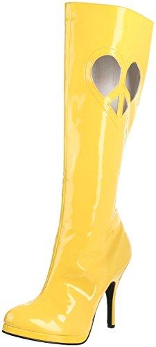 Funtasma LOVE-270 womens Yellow Patent Boots Size - 6 by Funtasma (Image #1)