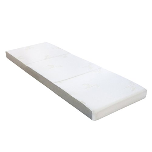 "Milliard Tri Folding Mattress, with Ultra Soft Removable Cover and Non-Slip Bottom, (Single 75"" x 25"")"
