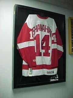 Image Unavailable. Image not available for. Color  Hockey Jersey Display  Case QVC ... 350ad6682