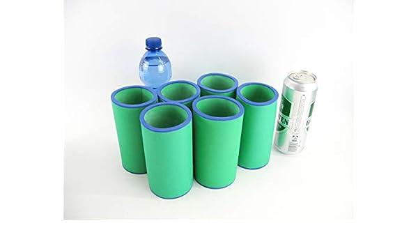 asiahouse24 - Juego de 6 enfriadores para Bebidas (0,5 L, para latas de Cerveza de 0,5 L, para latas de Cerveza de 5 a 6 mm de Grosor), Color Verde Menta: Amazon.es: Juguetes y juegos