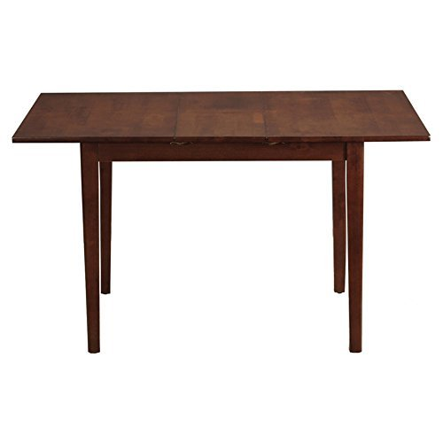 Height Butterfly Leaf - East West Furniture MLT-MAH-T Rectangular Table with 12-Inch Butterfly Leaf
