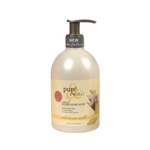 2 Packs of Pure And Basic Natural Liquid Hand Soap Wild Banana Vanilla - 12.5 Fl - Wild Free Banana Paraben