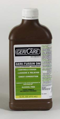 Cold and Cough Relief Geri-Care® 100 mg - 10 mg / 5 mL Strength Syrup 16 oz. DM