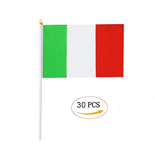 - Italy Stick Flag,Italian Hand Held Mini Small Flags On Stick International Country World Stick Flags For Party Classroom Garden Olympics Festival Sports Clubs Parades Parties Desk Decorations(30 pack)