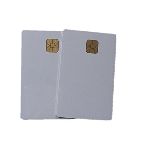 10PCS White Inkjet PVC ID Card with SLE4428 Chip Contact Smart IC Card