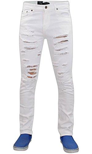 Taglia Elasticizzato Uomo 72 Jeans Cotone In White S Modello Da Skinny Strappato G q6wZOzfv