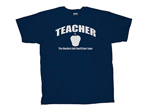 Teacher T-Shirt Hardest Job You'll Ever Love-Nb-L Navy Blue