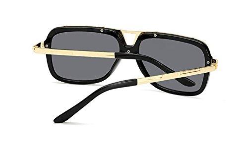 lunettes A polarisées vintage Feuille inspirées en rond style soleil de Grise métallique retro cercle Lennon du ZBxrqEZAw
