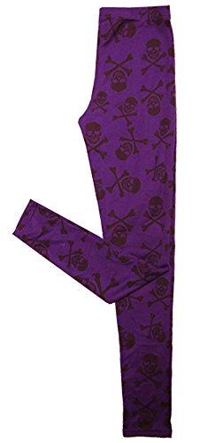 申請中イベント魅了する【スカル ドクロ】レギンス?気品の紫