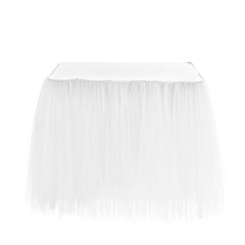 Zehui–Falda de mesa romántica boda fiesta cumpleaños Fuente estación de postre gasa Decoración Mesa faldas, bodas y...
