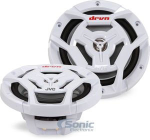 JVC CS-DR6201MW 6-1/2 Inch 2-Way Coaxial Speakers White