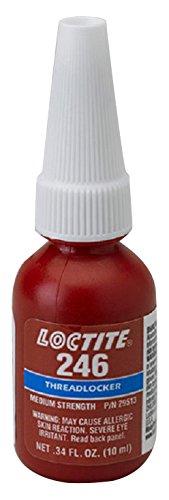 Loctite 29513 Blue 246 High Temperature Medium Strength Thread Locker, 450 degrees F Maximum Temperature, 10 mL Bottle