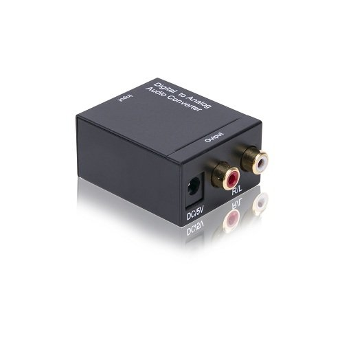 Portta Audio Converter Digital Toslink/Optical SPDIF to L/R RCA Audio Converter Support 2 channel Stereo LPCM CH2.0 without Decode Function for PS3 XBox HD DVD PS4 Sky HD Plasma Blu-ray ()