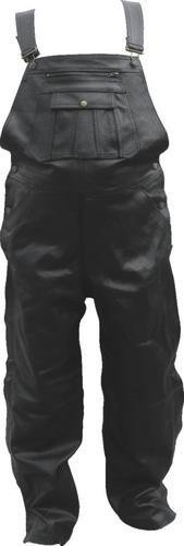 Mens Leather Overall bib Motorcycle Pants - XL - AL2440